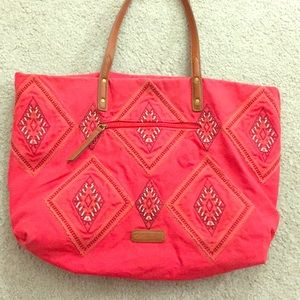Lucky Brand Bags - 🍀 Lucky Brand Large size tote red boho awesome🍀